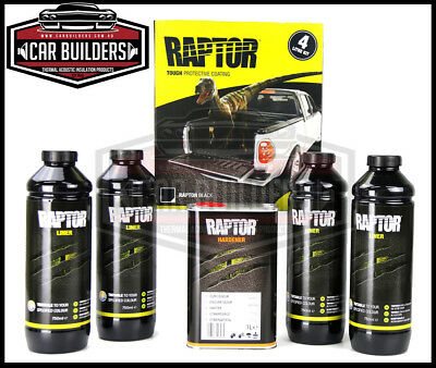 UPOL RAPTOR BLACK 4LTR KIT shake and shoot ready to spray