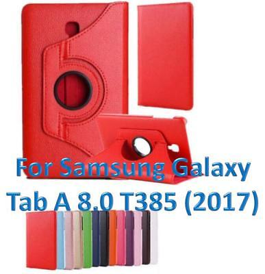 360 Rotating PU Leather Smart Case Cover For Samsung Galaxy Tab A 8.0 inch T385