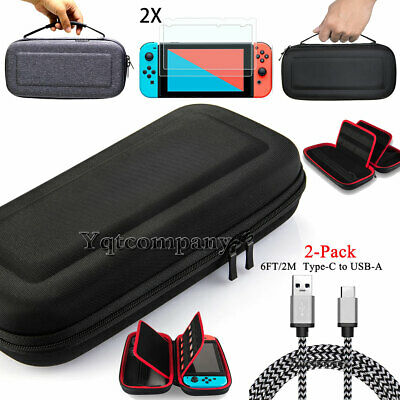 Case For Nintendo Switch+Travel Carrying Bag+6FT Charging Cable+Screen Protector