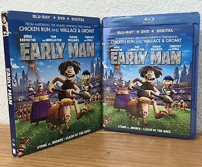 EARLY MAN (Blu-Ray/DVD/Digital, 2018) with SLIPCOVER ~ REGION A ~ SEALED!