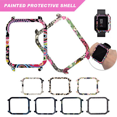 PC Flower Case Cover for Xiaomi Huami Amazfit Bip BIT PACE Youth Smart Watch New