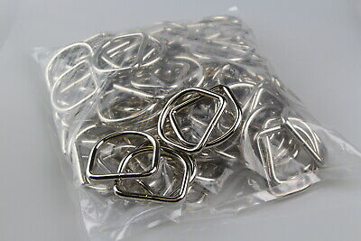 Dee d ring 100 x welded steel 50mm x 7mm horse rugs dog collars leads