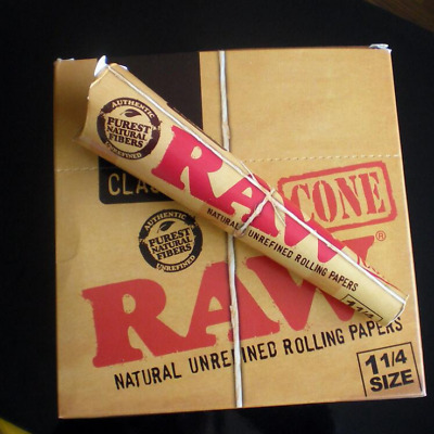 Classic 1 Box 192 Smoking Cones Pre Rolled RAW Rolling Papers King Size 78mm
