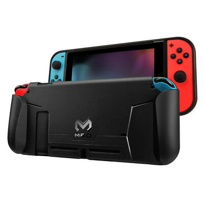 Black Protective TPU Case For Nintendo Switch Grip Cover Shockproof Absorption