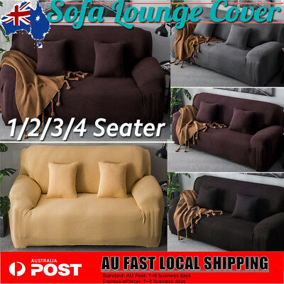Easy Fit Stretch 1/2/3/4 Seater Couch Sofa Slipcover Protector Cover Fleece