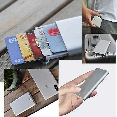 Elegant New For Xiaomi Automatic Men Business Card Holder AlloyStorage Card IP