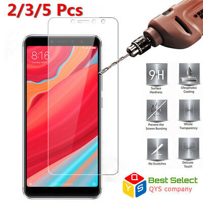 2Pcs Tempered Glass Screen Protector Film Cover For Xiaomi Mi A1 A2 Redmi Note 5