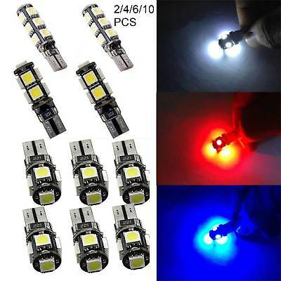 T10 Car Bulbs 5/9/13 SMD LED ERROR FREE CANBUS  Xenon White W5W 501 Side Light