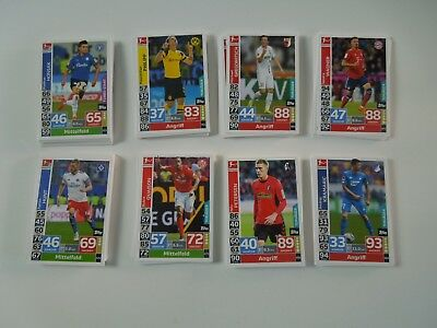 Match Attax Action 2018/2019 18/19 alle 128 Basis Karten Komplett Set
