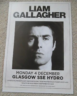 Liam Gallagher oasis - live music band show memorabilia concert gig tour poster
