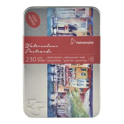 Hahnemuhle Limited Edition Watercolour Cold Pressed Paper Blank Postcards Tin