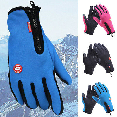 Mens Womens Winter Warm Windproof Gloves Thermal Touch Screen Soft Bike Riding