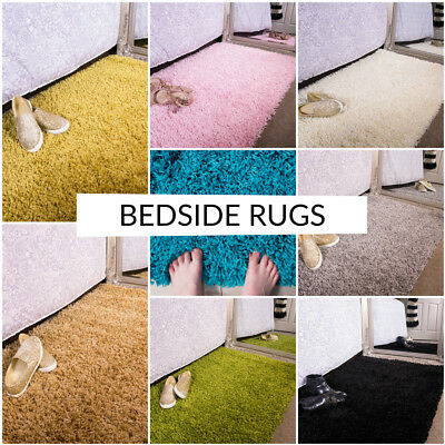New Cozy Colourful Fluffy Soft Shaggy Thick Pile Cheap Bedroom Bedside Kids Rug
