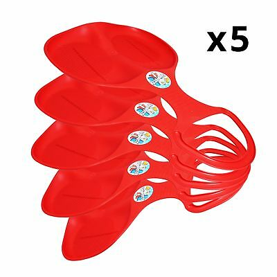 x5 Red Bear Bum Sledges Kids Childrens CLEARANCE