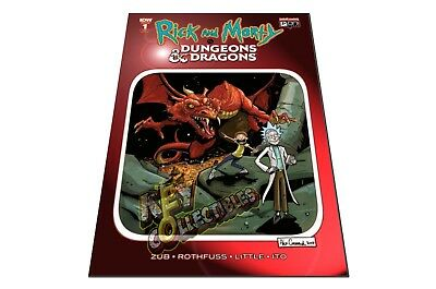 Rick And Morty vs Dungeons & Dragons #1 Cormack RED CHROMIUM FOIL VARIANT - RARE