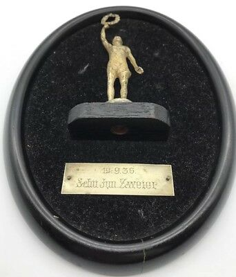Third Reich Era German Children's Athletics Award 1936 Plaque Trophy