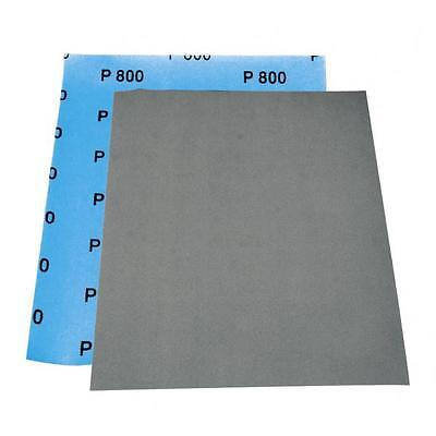 Lot de 8 Feuilles abrasives a l'eau, format 230 x 280mm, grain P800, carrosserie