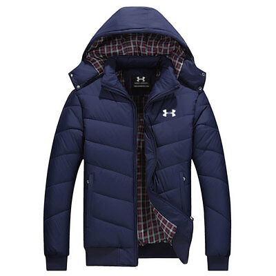 2018 Under Armour Men Thick Coat Winter Hoodie Jacket Hooded Warm Puffer coat