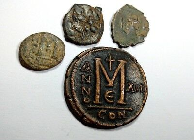 Rare Lot Of 4 Bronze Islamic Byzantine Coins //814