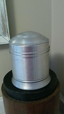 Vintage Tin Tobacco  Cigar  Humidor stainless steel