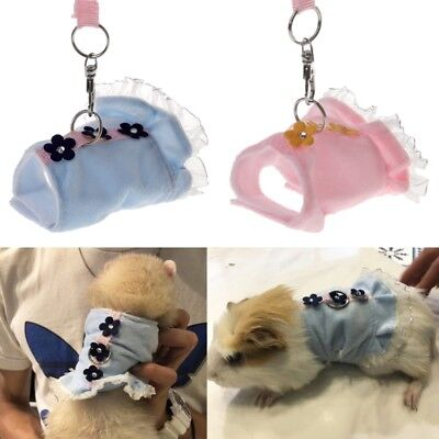 Adjustable Pet Harness Small Animals Rabbit Ferret Guniea Pig Vest Leash Strap