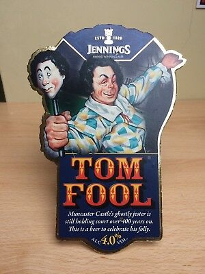 Jennings Tom Fool Beer Pump Clip Breweriana Collectable