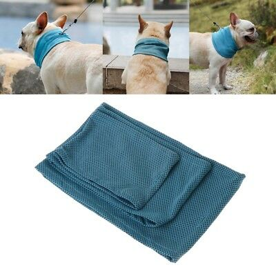 Pet Dog Scarf Summer Cooling Puppy Cat Collar Bandana Chill Ice Neck Towel Wrap