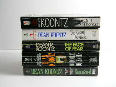 Dean Koontz Lot of 5 Paperback books Odd Thomas, Demon Seed, The Face of Fear