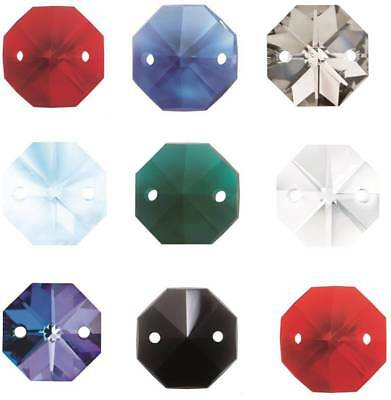 Octagon Chandelier Crystals | Drop Crystal Beads For Lights | Wedding Drops 14Mm