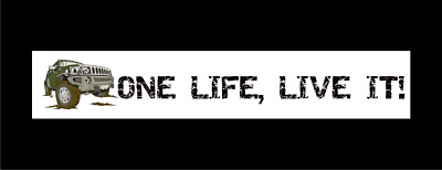 Small One Life Live It Stickers X 2 Land Rover 4x4 Off