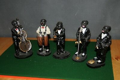 10 New Orleans Jazz Band Figuren Set´s 6 Teilig Kunststein 60 Miniatur Figuren