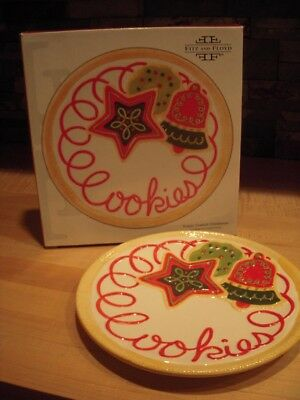 Fitz and Floyd Sugar Coated Christmas Cookies for Santa Plate : OB