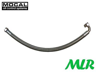 Mocal -8 Jic Swaged S/S Braided Oil Cooler Hose Choice Of Straight 45 90 Fitting