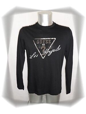 GUESS TEE SHIRT NOIR MANCHES LONGUES femme TAILLE M taille 38 40 ... d02e8befada