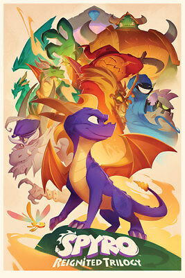Spyro Animated Style Maxi Poster Print 61x91.5cm | 24x36 inches