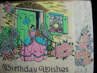 "Vintage ""wishing A Birthday Of Joy, Love And Laughter!!"" Birthday Greeting Card"