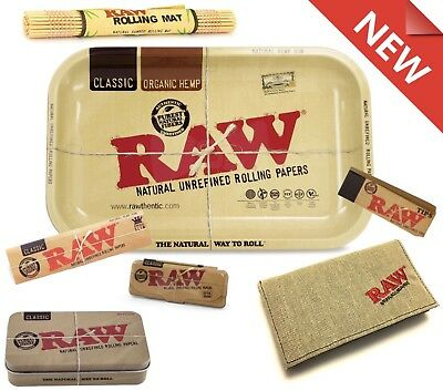 Christmas Raw PACK 7 Items Rolling Tray+Case+Raw Rolling Paper+Pre-Rolled Tips