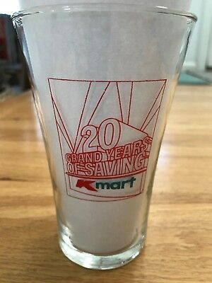 Vintage Kmart Collectible Glass Limited Edition 20 Year Anniversary