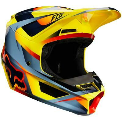 NEW Fox 2019 MX V1 Bike Motocross Motif Helmet - Yellow from Moto Heaven