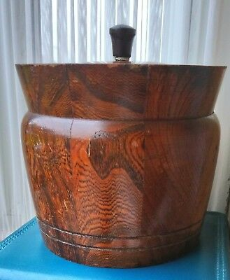 Vintage Treen Wooden Tobacco Barrel