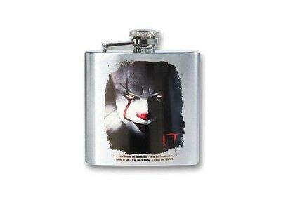 Pennywise IT Clown 2017 Stainless Steel 8oz Flask Horror Movie Fan Gift New