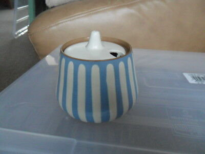 Beautiful Prinknash blue and white ceramic pottery suger bowl