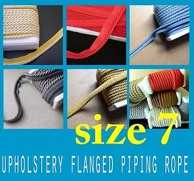 Upholstery Flanged Piping Cord Rope 7m Trimmings Trim Cushion Piping Cord Trims