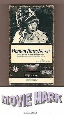 WOMAN TIMES SEVEN 1967 Magnetic Video Shirley MacLaine Peter Sellers vhs & BONUS