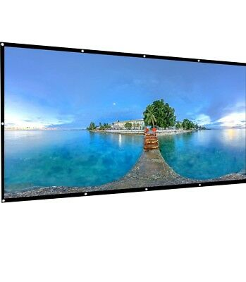 AbdTech Projector Screen 120 Inch, Portable Foldable 16:9 HD Anti Wrinkles