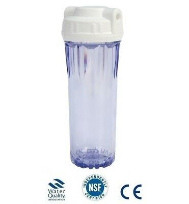 "L66 10"" clear filter housing reverse osmosis"