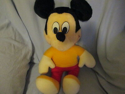 Plush Talking Mickey Mouse 1984 Child Guidance Vintage