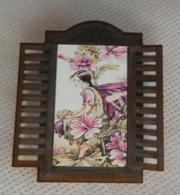 Through the Window Flower Fairy Brooch or Scarf Pin Wood NEW Accessories Fashion