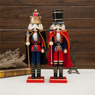 """15"""" Wooden King Nutcracker Soldiers Christmas Walnut Soldiers Home Decor Gifts"""