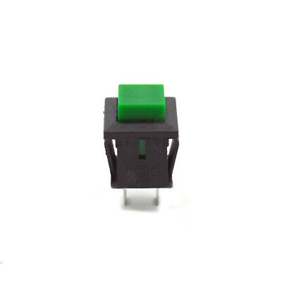 10Pcs Green Pushbutton Switch Momentary DS-430 1A/250V 2 Pins No Lock Switch